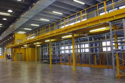 Realizzazione di soppalchi industriali multipiano