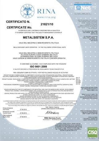 certificato qualità aziendale